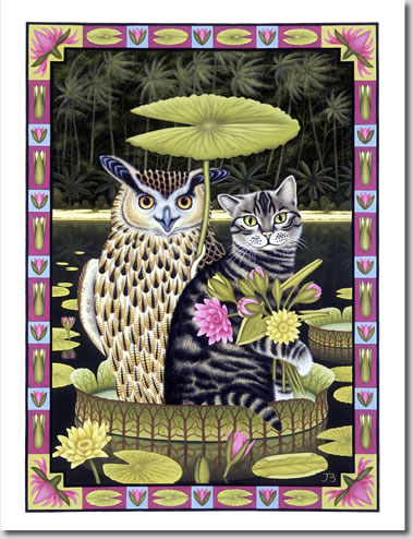 Owl and the Pussy Cat Postcards in sets of 5